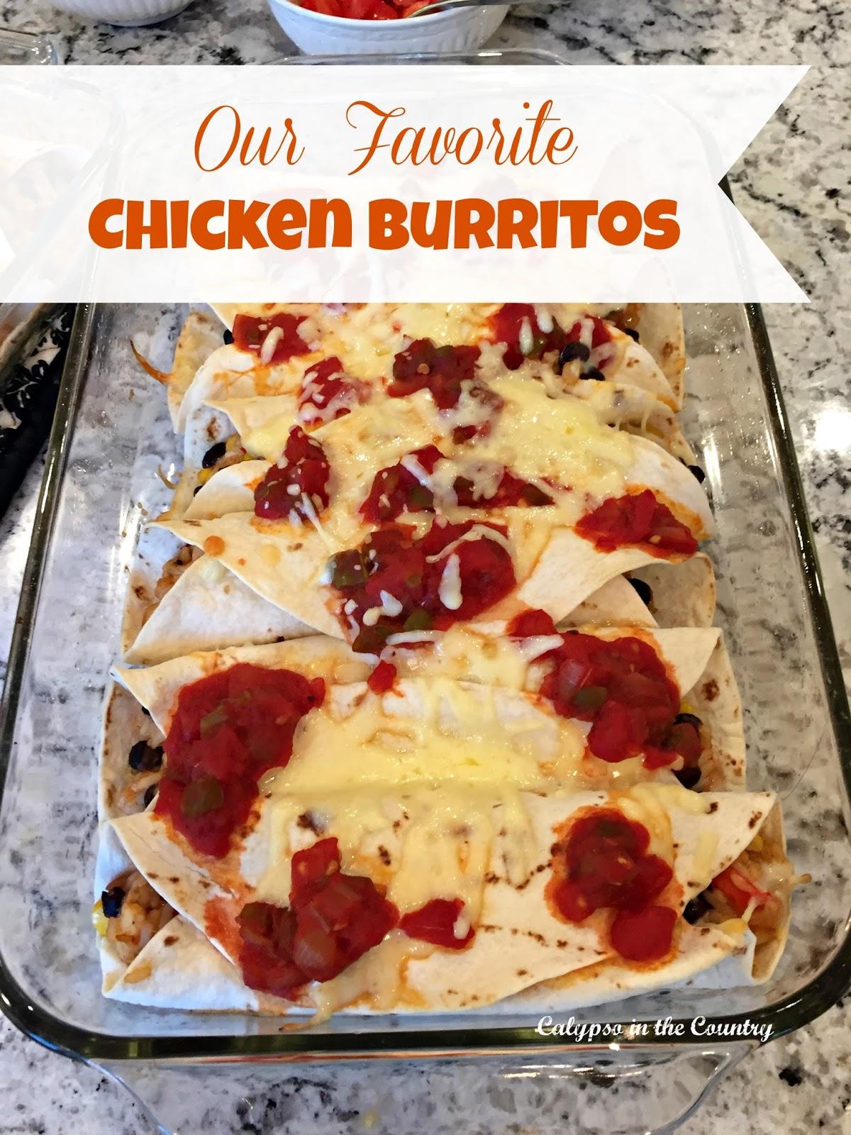 Favorite Chicken Burritos Recipe