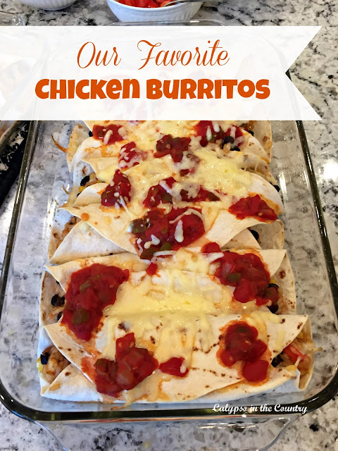 Favorite Chicken Burritos Recipe