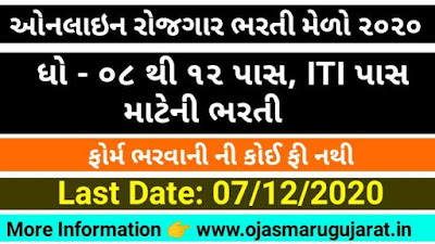 Online Job Vacancies Organized by District Employment Office Amreli Recruitment 2020