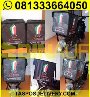 Produsen Tas delivery pizza Piccola Jakarta bandung bogor tangerang bekasi jogja solo semarang malang surabaya bali banjarmasin batam