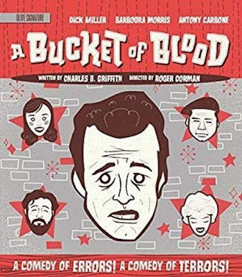 Olive Signature's A BUCKET OF BLOOD Blu-ray Cover.