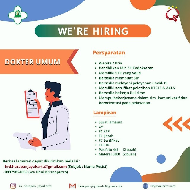 Loker Dokter RS Harapan Jayakarta, Jakarta