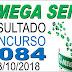 Resultado da Mega Sena concurso 2084 (03/10/2018) ACUMULOU!!!