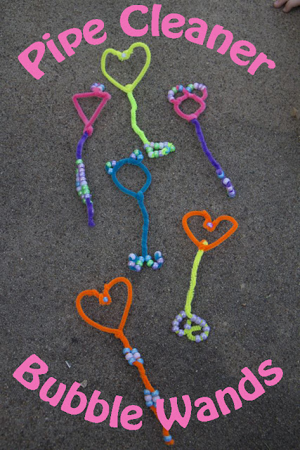 Homemade Beaded Pipe Cleaner Bubble Wands for Extra Summer Fun