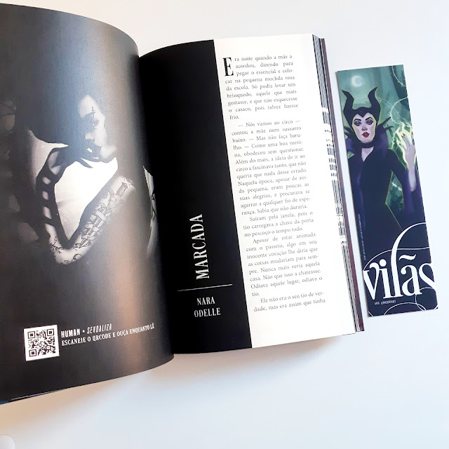 Miolo livro vilãs Editora Corvus