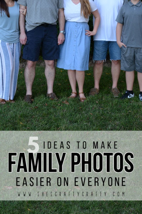 5 ideas to make family photo sessions easier on everyone in your family  |  She's Crafty