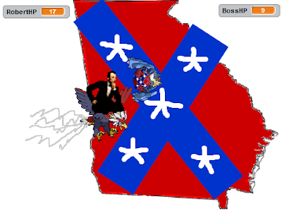Abraham Lincoln Braviary Capture the Confederate Flag game Tailwind Georgia