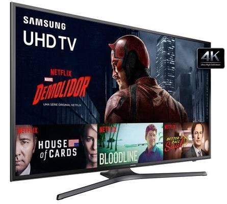 Smart TV da Samsung oferece processador quad-core e tela de 55 polegadas em 4K