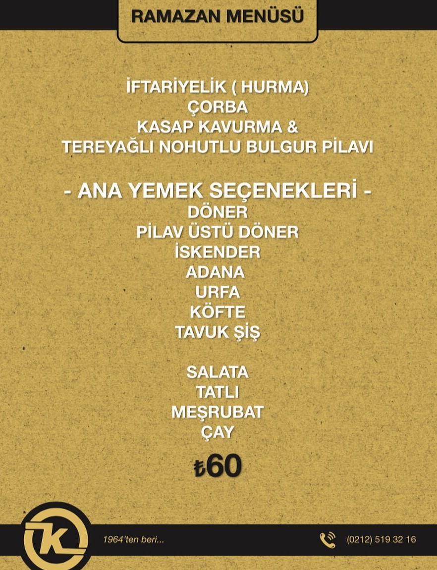 kasap osman sirkeci istanbul iftar menüleri