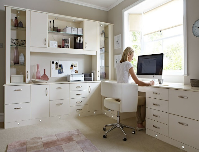 best custom white fitted office furniture sets for sale