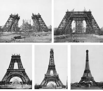 أوراق-تك مراحل بناء برج ايفيل