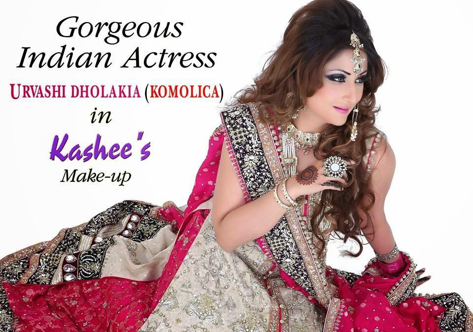 Makeup Indian Actress Having Makeup By Kashees Beauty Parlor