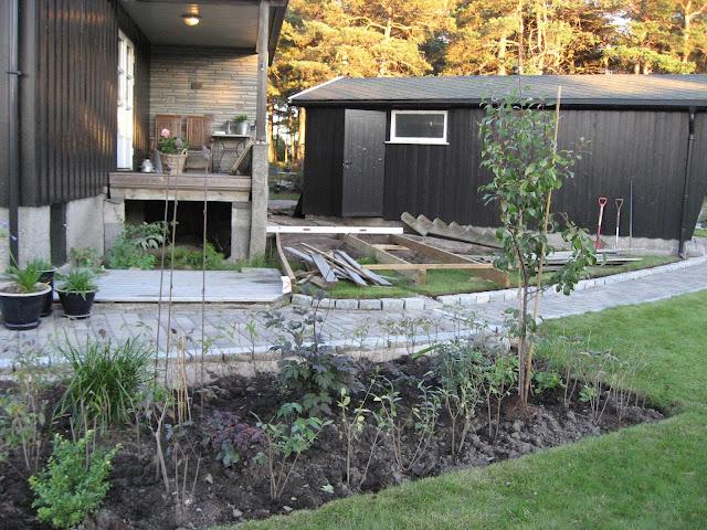 Bygge terrasse - tips. Riving av eksisterende trapp.Furulunden
