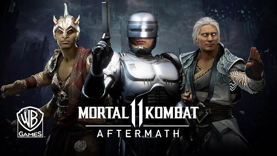 mortal kombat 11 aftermath dlc expansion gameplay reveal fujin robocop sheeva paid content fighting game nether realm studios warner bros interactive entertainment pc ps4 switch xb1