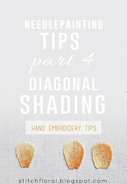Needlepainting tips Part 4: Diagonal shading