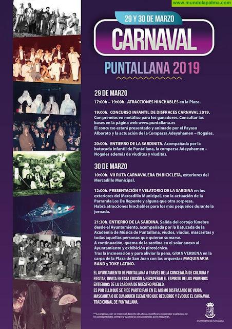 29 y 30 de Marzo 2019 Carnaval de Puntallana - Programa