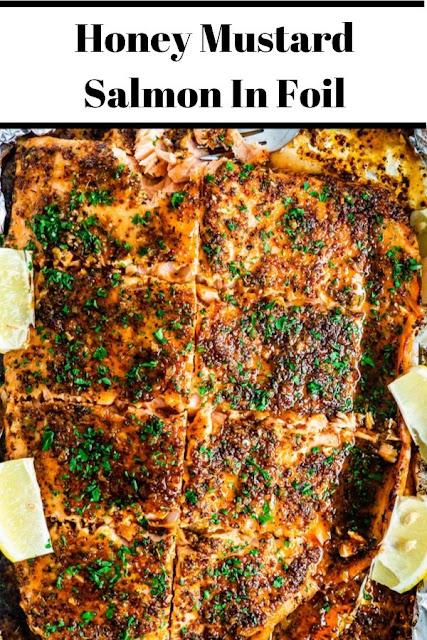 Honey Mustard Salmon In Foil #Honey #Mustard #Salmon #In #Foil Healthy Recipes Easy, Healthy Recipes Dinner,