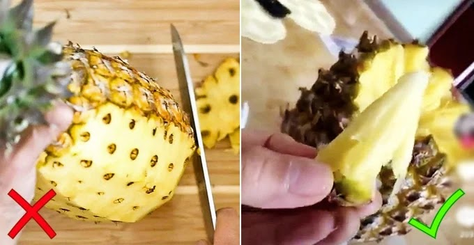 cara memakan nanas dengan benar