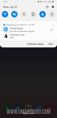 Fix Telegram Notification Samsung