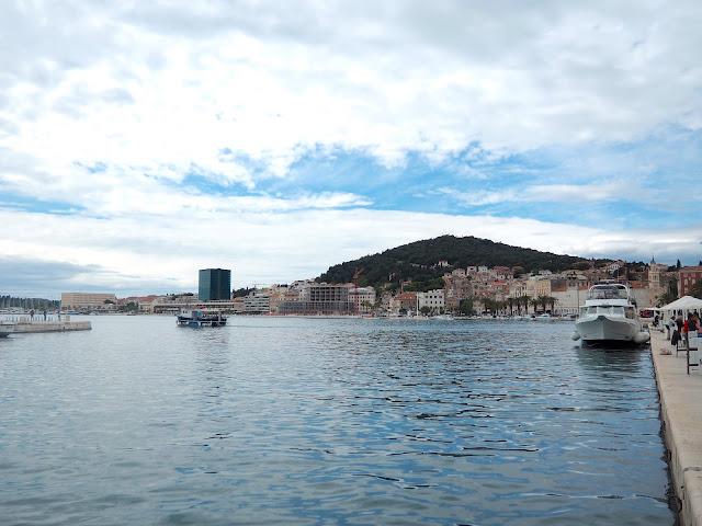 Harbour area outside Diocletian's Palace, Split, Croatia