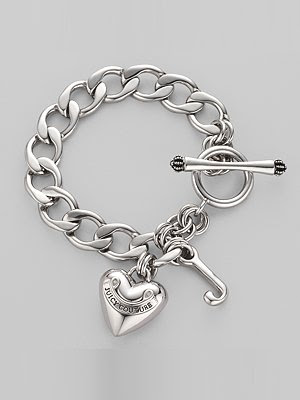 Juicy Couture Heart Charm Starter Bracelet