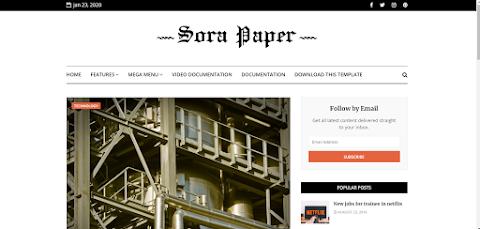 Uniq News Blogging Blogger Templates Free Download