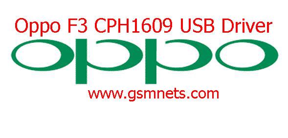 Oppo F3 CPH1609 USB Driver Download