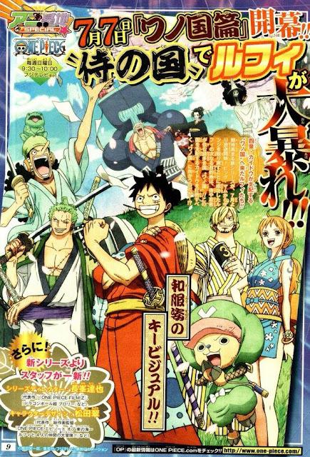 """El anime """"One Piece"""" entrará en el arco del País de Wano en breve."""