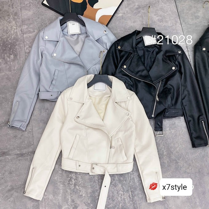 Áo khoác da nữ- X7FAD13