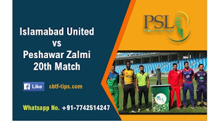 Who will win Today PSL 20th match ISU vs PSZ T20 2020