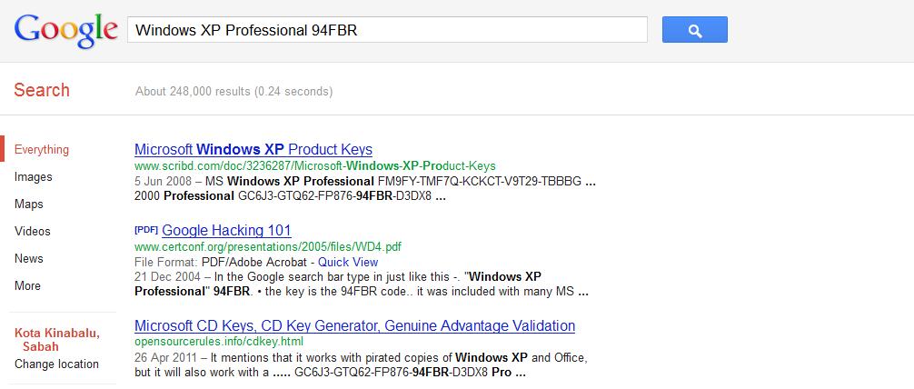 windows xp professional 94fbr