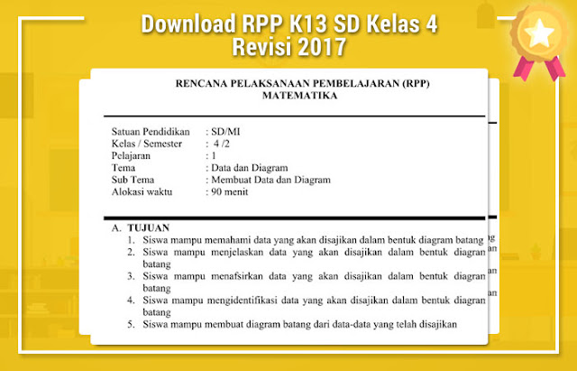 RPP K13 SD Kelas 4 Revisi 2017