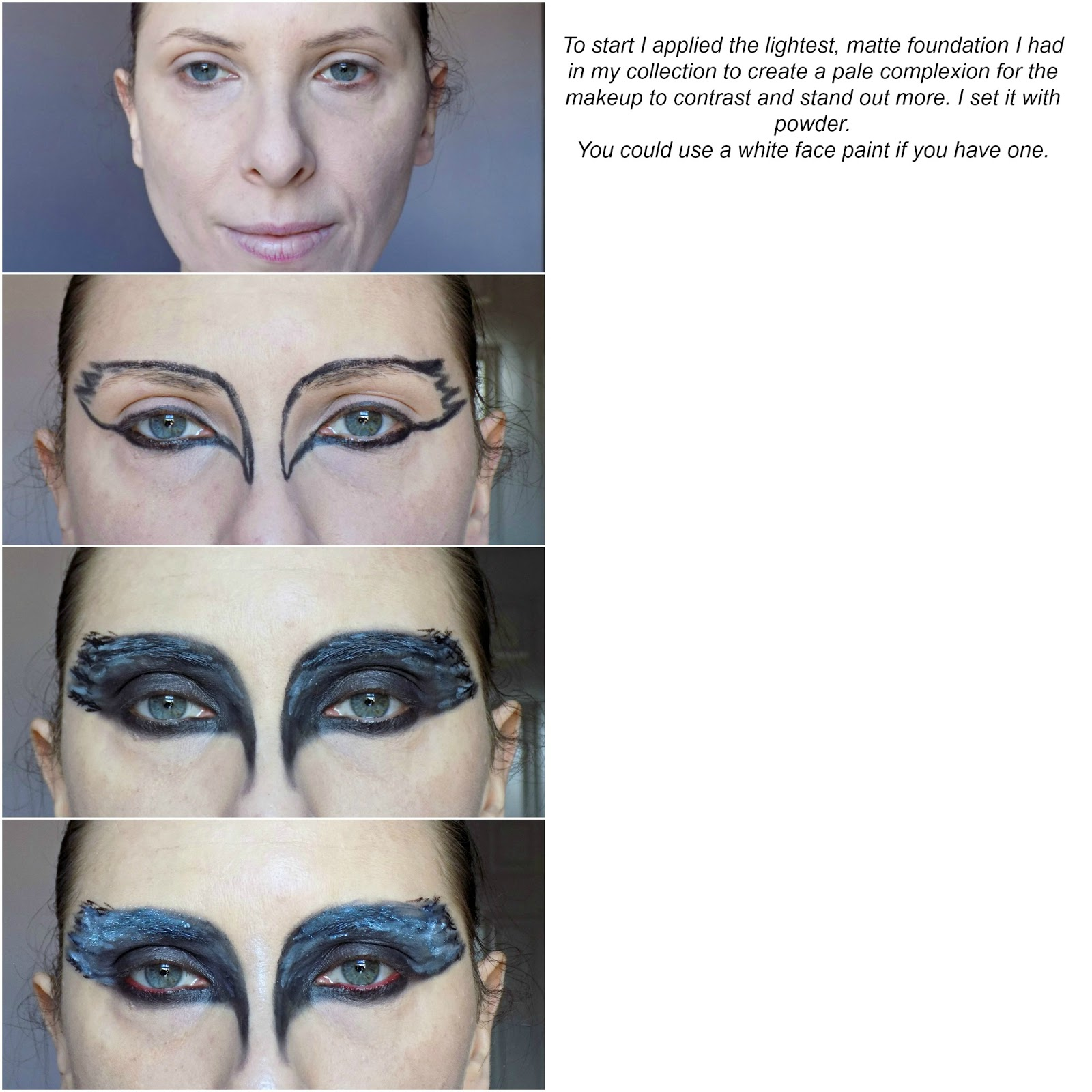 Easy halloween makeup tutorial black swan mummys beauty corner are you planning to dress up for halloween will you be doing anything special on the day baditri Gallery