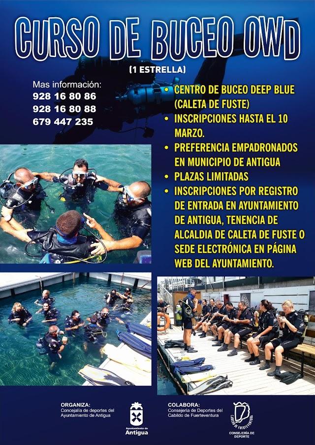 Fuerteventura.- Antigua ofrece un Curso de Buceo Open Water Diver