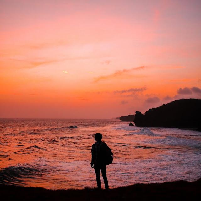 Journey of life happy sunset