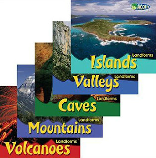 Landforms books paperback set by Cassie Mayer