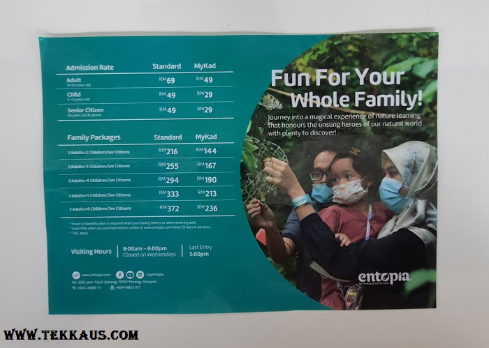 Entopia Penang Ticket Price