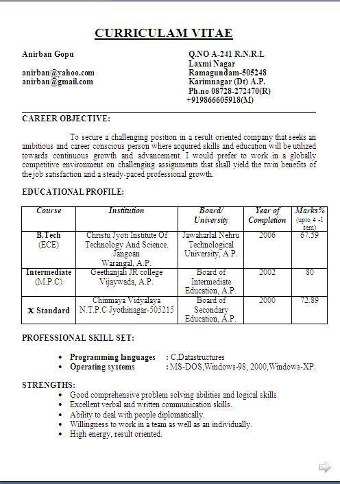 teacher job resume format - Forte.euforic.co