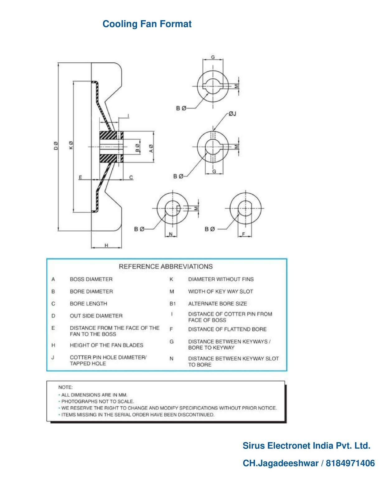 Drawing Format For Lt Ht Amp Dc Motor Spares