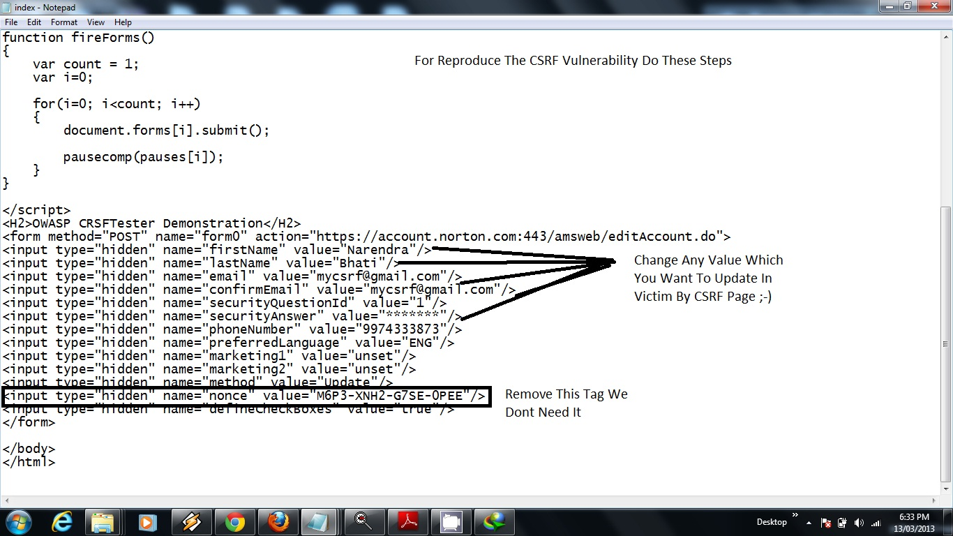 Web Security Geeks - The Security Blog: Symantec CSRF Bypass