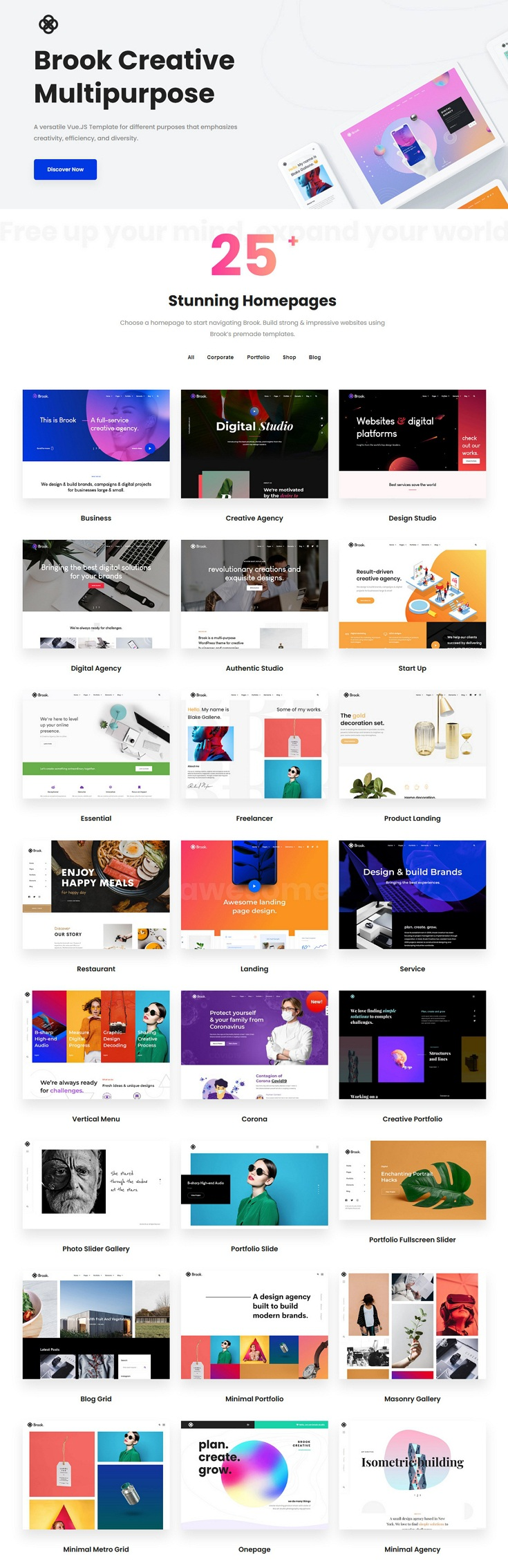 Creative Multipurpose Vue Nuxt JS Template