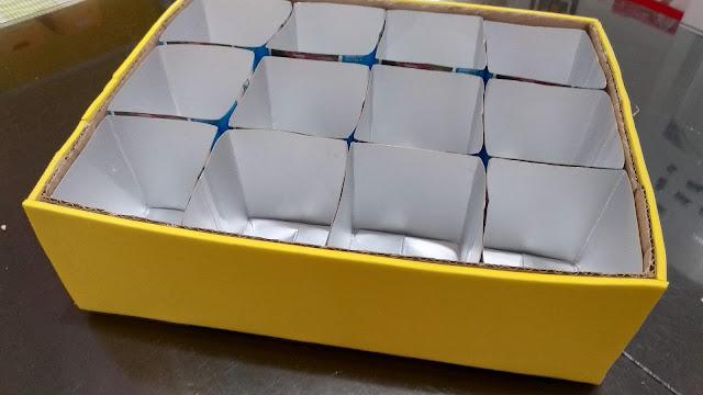 DIY - Organizador com caixinhas de leite