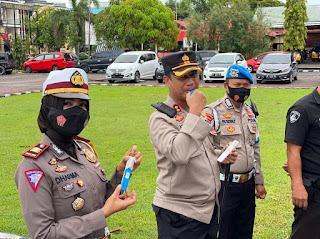 Polres Pinrang  Jalani Tes Narkoba Metode DrugWipe, Tindak Lanjuti Program Kerja 100 Hari Kapolri