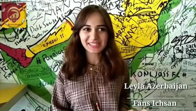 Wow, Sriwijaya FC Dapat Dukungan dari Fans Cantik Azerbaijan