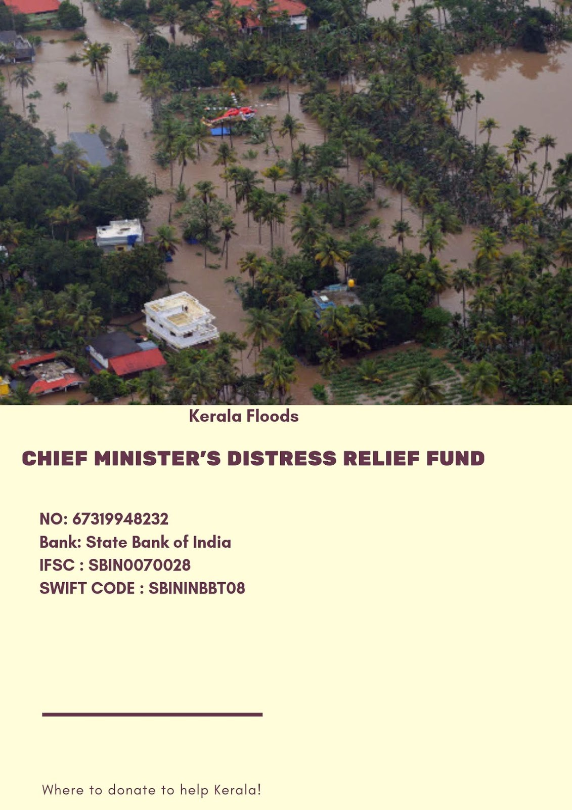 fund raising at the time of flooding