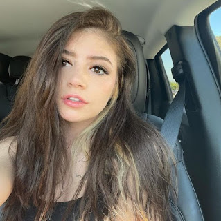 Chrissy Costanza clicking selfie while sitting in a car