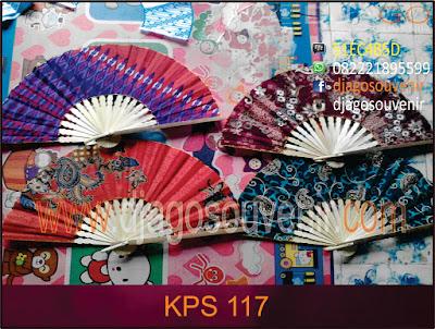 Souvenir kipas kain batik murah