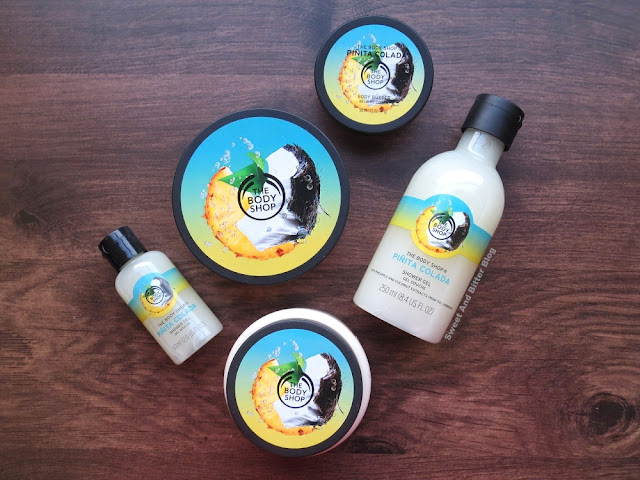 The Body Shop Pinita Colada Shower Gel, Scrub, and Body Butter