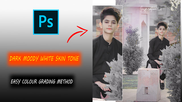 Dark Moody Photoshop Colour Grading Tutorial  White Skin Editing Tutorial In Photoshop In One Click