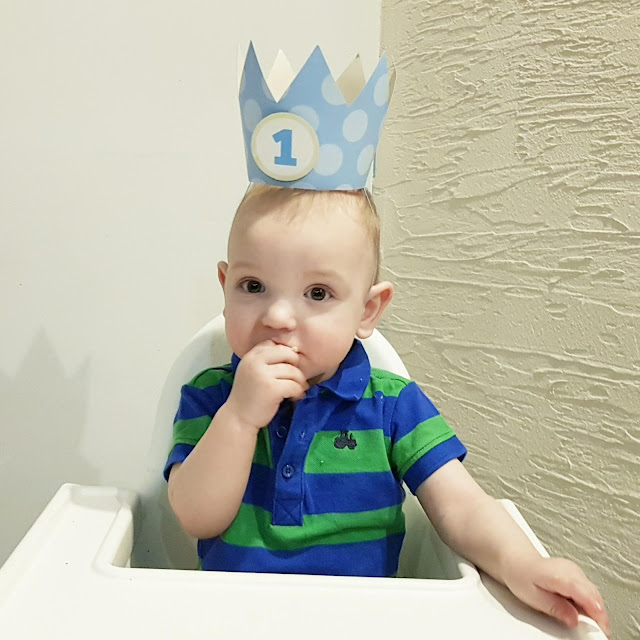 Tort urodzinowy dla chłopca - Antoś kończy roczek!